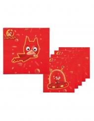 6 Serviettes en papier SamSam™ 33 x 33 cm