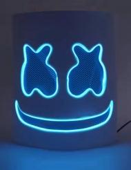 Masque guimauve led bleu adulte