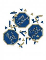 Confettis de table happy birthday marbre bleus et dorés 14 g