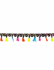 Guirlande en polyester mexicaine pompons 2 m