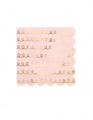 20 Serviettes en papier roses poudrées 32 x 32 cm