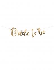 Guirlande en carton bride to be métallisée dorée 80 x 19 cm