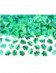 Confettis de table feuilles tropicales vertes métallisées 15 g