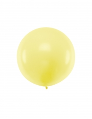 Ballon en latex géant jaune 1 m