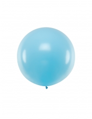 Ballon en latex géant bleu 1 m
