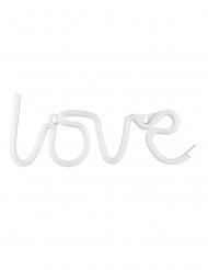 Décoration lumineuse neon led love blanc 34,5 x 13 cm