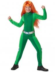 Déguisement espionne de choc vert fille