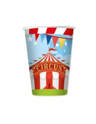 8 Gobelets en carton circus party 200 ml