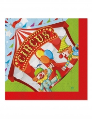 20 Serviettes en papier circus party 33 x 33 cm
