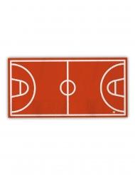 16 Serviettes en papier terrain de basket 40 x 33 cm