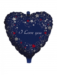 Ballon aluminium cœur i love you 45 cm