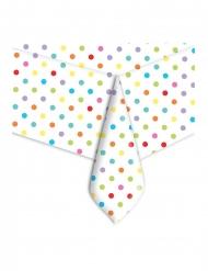Nappe en plastique pois multicolore 140 x 270 cm