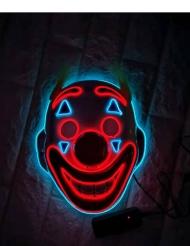 Masque clown fou avec LED adulte