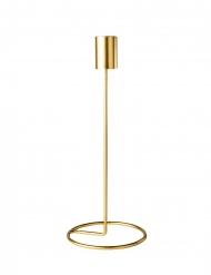 Bougeoir sur socle design en métal doré 23 x 9,5 cm