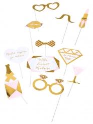 Kit photobooth Mlle devient madame 11 accessoires