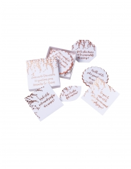 35 Cartes lanceur de discussion végétal rose gold 7 x 7 cm