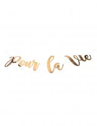 Guirlande en carton pour la vie rose gold 1,20 m
