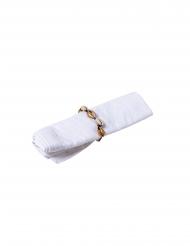 4 Ronds de serviettes coquillages naturels et dorés 5 cm