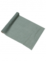 Chemin de table mousseline vert de gris 28 cm x 5 m