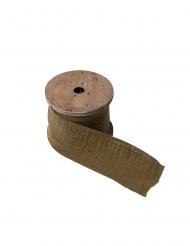 Ruban gaze de coton kaki 4,5 cm x 3 m