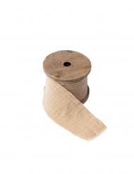 Ruban gaze de coton beige 4,5 cm x 3 m