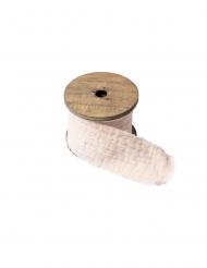 Ruban gaze de coton crème 4,5 cm x 3 m
