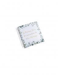 Livre d'organisation de mariage eucalyptus dorure or 19 x 20 cm