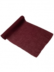 Chemin de table mousseline marsala 28 cm x 5 m