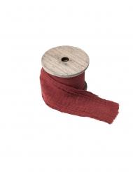 Ruban gaze de coton terracotta 4,5 cm x 3 m