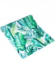 Chemin de table feuilles tropicales luxe 28 cm x 5 m