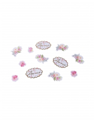 100 Confettis aquarelle et amour dorure de 2 à 4,5 cm