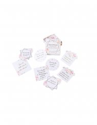 35 Cartes lanceur de discussion aquarelle dorure 7 cm
