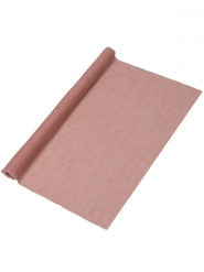 Chemin de table mousseline rose 48 cm x 5 m