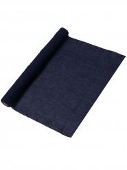 Chemin de table mousseline bleu marine 48 cm x 5 m