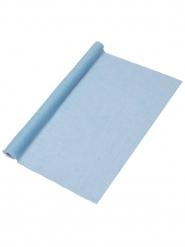 Chemin de table mousseline bleu ciel 48 cm x 5 m