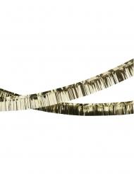 Guirlande à franges en plastique dorée 5 m