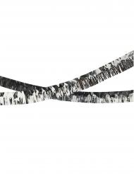 Guirlande à franges en plastique argentée 5 m