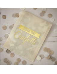 Enveloppe en tissu avec confettis dorés 9 x 11,5 cm 7 g