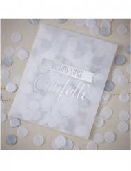 Enveloppe avec confettis en papier argentés 7 g