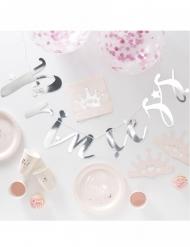 Kit complet déco et vaisselle anniversaire princesse rose 70 pièces