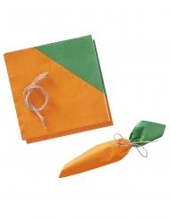 16 Serviettes en papier carotte lapin de pâques 16,5 cm