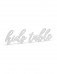 Décoration en bois kids table blanche 38 x 10 cm