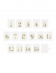 30 Marque tables en papier adhésif pour bouteilles 9,5 x 12 cm