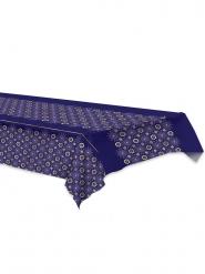 Nappe en plastique eid mubarak bleue 137 x 274 cm