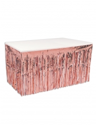 Jupe de table en plastique rose gold 76 cm x 4,2 m