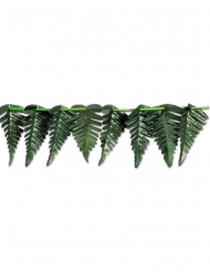 Guirlande en polyester feuilles tropicales vertes 7,62 cm x 3 m