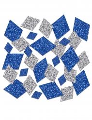 Confettis de table oktoberfest bleu et argent pailletés 42 g