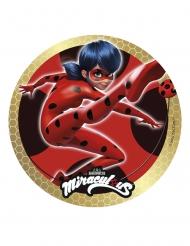 Disque en sucre Miraculous Ladybug™ doré 20 cm