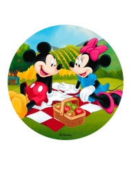 Disque en azyme Mickey et Minnie™ pique-nique 20 cm