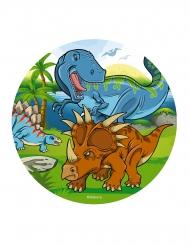 Disque en azyme dinosaures 20 cm